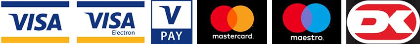 Her kan du betale med kreditkort.